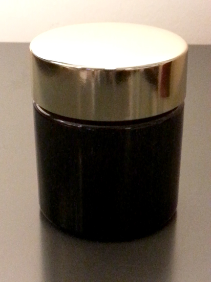 4 Oz Black Tall Wide Mouth Plastic Jar 58 400 And Gold